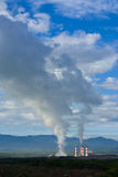 Smoke from electric plant, north of Thailand Royalty Free Stock Photos