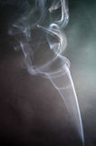 Smoke. Elegant smoke coming from the candle royalty free stock photos