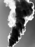 Smoke emission in atmosphere Stock Images