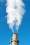 Smoke emission from factory pipe Stock Photography