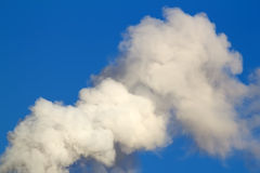 Smoke  emission  sky Royalty Free Stock Photo