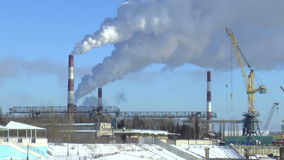Smoke from factory stock footage