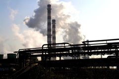 Smoke from factory chimney Stock Photography