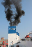 Smoke from a ferryboat funnel Royalty Free Stock Photography