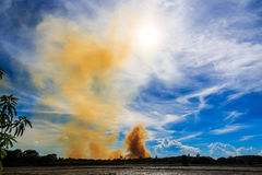 Smoke from fire burning Royalty Free Stock Image