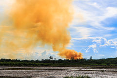 Smoke from fire burning Royalty Free Stock Images