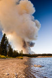 Smoke from a Distant Fire Royalty Free Stock Photos