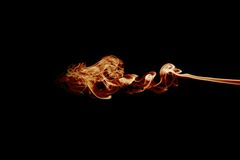 Smoke flames on black Royalty Free Stock Photography