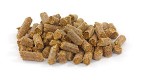 Smoke Flavoring Pellets On White Background Stock Images