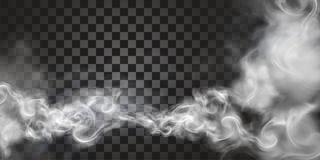 Smoke floating in the air. In 3d illustration on transparent background royalty free illustration
