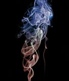 Smoke flowers. Smoke art figure, flowers style Stock Photography