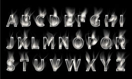 Smoke font collection. Smoke font collection set. smoke dark Stock Photography