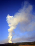 Smoke from Forest Fire (V). The smoke from a forest fire, on the other side of a hill royalty free stock photography