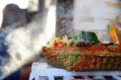 Smoke form burning incense Stock Photo