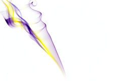 Smoke form with a purple-yellow colour gradient Stock Image
