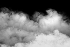 Smoke fragments isolated on a black color background. Smoke fragments on a black background royalty free stock photography