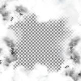 Smoke frame. A frame of smoke, an isolated object with an empty space in the middle for placing your image or text Royalty Free Stock Images