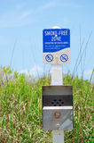 Smoke-free Zone Sensitive Wildlife Area sign Royalty Free Stock Photos