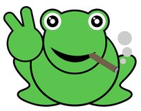 Smoke frog Stock Images