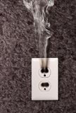 Smoke From The Outlet Royalty Free Stock Images