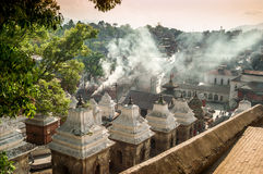 Smoke. From The Funeral Gath in Pashupatinath Royalty Free Stock Photo