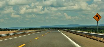 Panoramic view of road Royalty Free Stock Photos
