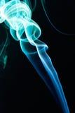 Smoke green blue swirl Stock Photos