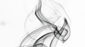 Smoke. Greyish smoke on white background Royalty Free Stock Photos