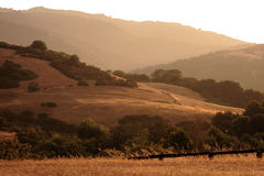 Smoke haze, California foothills Royalty Free Stock Photos