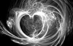 Smoke heart Stock Photography