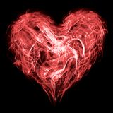 Smoke heart. Abstract smoke heart as a symbol of love or health Stock Images