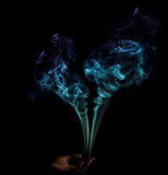Heart Shaped Smoke Stock Image