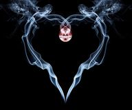 Smoke heart for valentine's day Royalty Free Stock Photography