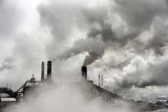 Smoke of heavy industry Royalty Free Stock Images