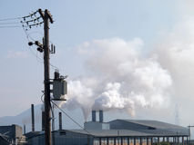 Smoke from heavy intustry factory Royalty Free Stock Photography