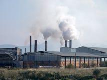 Smoke from heavy intustry factory Royalty Free Stock Photos