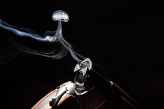 Smoke from a hunting rifle Stock Photography