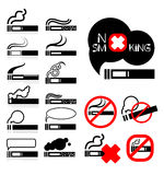 Smoke  icons set Royalty Free Stock Photography