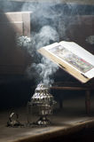 Smoke from incense Stock Photography