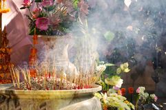 Smoke incense stick asian religious believe smell. Health Stock Image