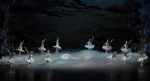 The smoke of incense in Swan Lake-The last scene of Swan Lake-ballet Swan Lake Stock Images