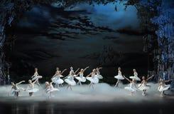 The smoke of incense in Swan Lake-The last scene of Swan Lake-ballet Swan Lake Royalty Free Stock Image