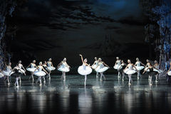 The smoke of incense in Swan Lake-The last scene of Swan Lake-ballet Swan Lake Stock Photography