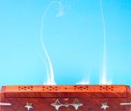 Smoke of Indian incense Royalty Free Stock Photos