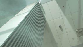 The Smoke Indoor Building. Fire smoke in the office building indoor stock video footage