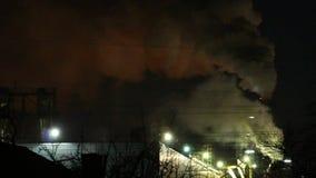 Smoke industry night stock video