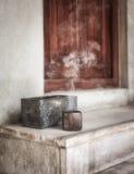 Smoke Inscence. Sandalwood incense burning in traditional Arabian Hotel Lobby Royalty Free Stock Image