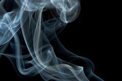 Smoke isolated. Grey smoke isolated on black Stock Photo