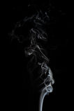 Smoke isolated on black Stock Images