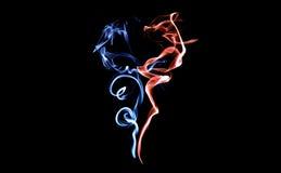 Smoke, isolated black background art Royalty Free Stock Photos